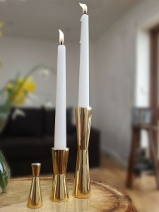 Limited edition solid brass Candlesticks and snuffer